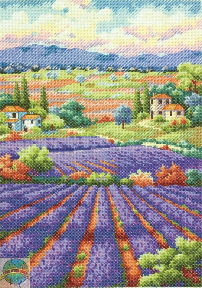 Cross Stitch Kit ~ Gold Collection Tuscany Fields of Lavender #70-35299 SALE! #Dimensions #Portrait