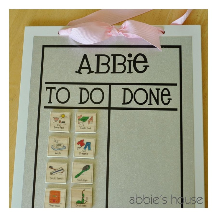 Chore Chart Combination Set - White Chore Chart and Basic Magnet Set of 12. $27.00, via Etsy.