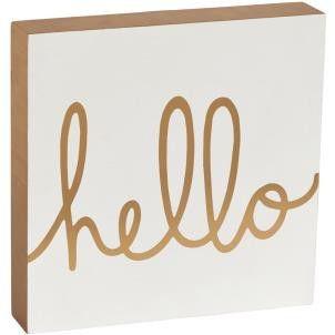 Chole 'Hello' Block Sign - Amour Decor