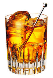 Rusty Nail    2 oz. Drambuie® liqueur  1 oz. blended Scotch whisky (try Dewar's® White Label)  Ice cubes  Tools: swizzle stick or braspoon  Glass: rocks    Pour ingredients over ice in a glass and stir.