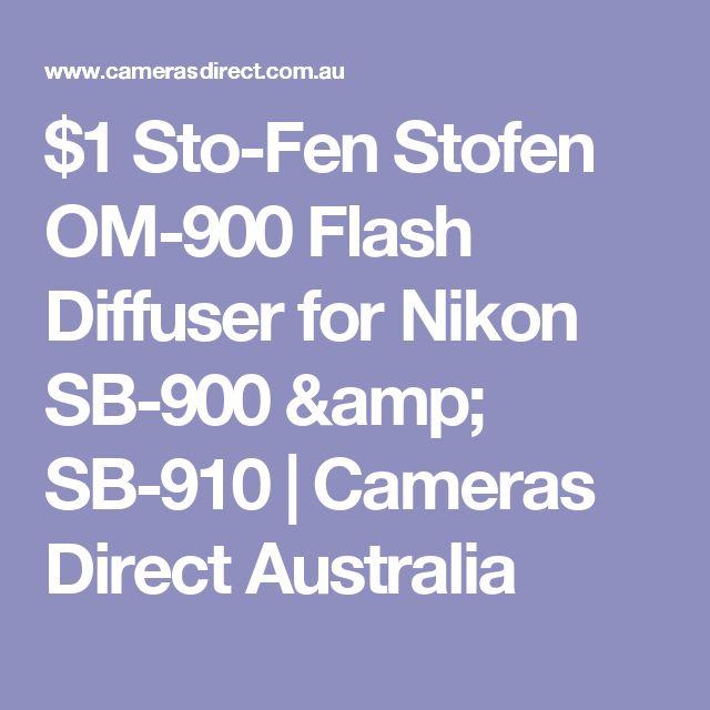 $1 Sto-Fen Stofen OM-900 Flash Diffuser for Nikon SB-900 & SB-910 | Cameras Direct Australia