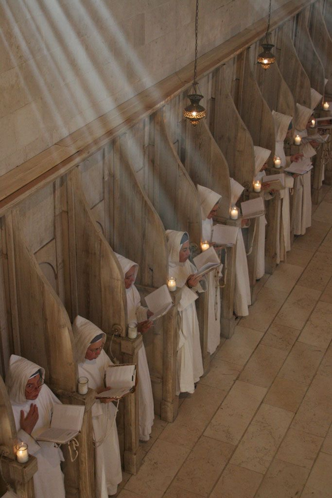 in choir - i spent time in the choir of the Benedictines at St. Joseph's monastery in St. Joseph, Louisiana, location of St. Ben's Seminary