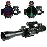 Chinoook 3-9X40 Illuminated Tactical Rifle Scope with Red Laser & Holographic Dot Sight
