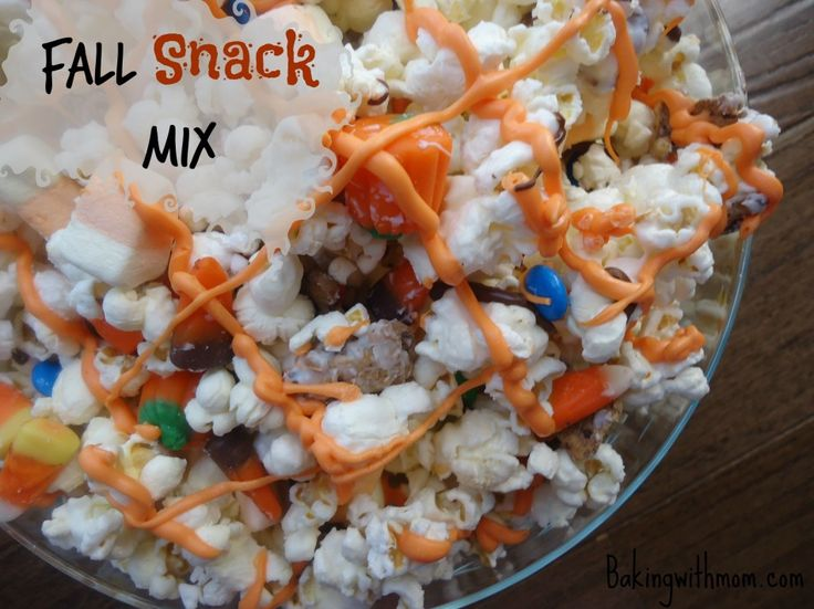 Fall Snack Mix: A great mix for a birthday or classroom party!//Bakingwithmom.com