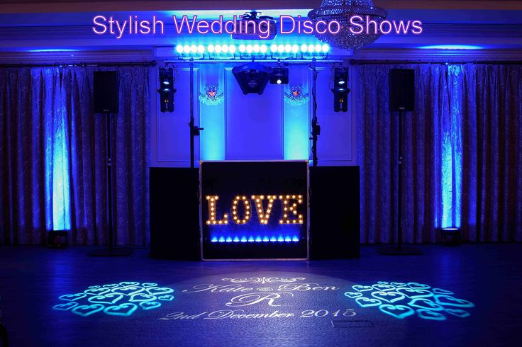 The stylish wedding show can be set to match your wedding colours for an amazing backdrop to your first dance - DJ Martin Lake