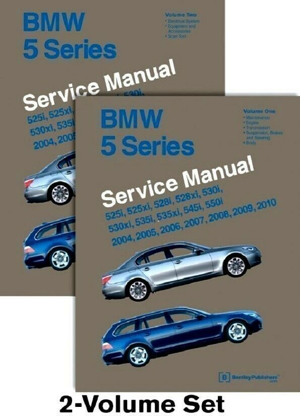 Ebay Sponsored Bmw 5 Series E60 E61 Bentley B510 Service Manual 2 Book Set 04to10 Free Ship Us Bmw Bmw 5 Series Bentley