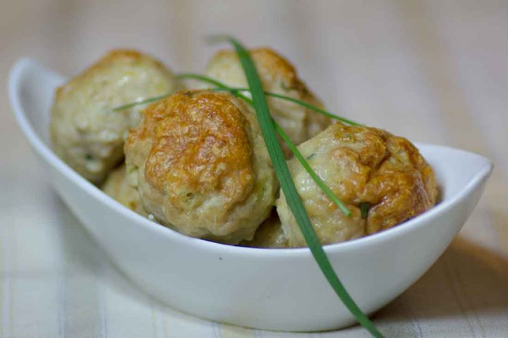 Chicken, Cheddar and Chives Meatballs