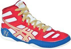 Youth JB Elite Wrestling Shoes (Red / Gold)