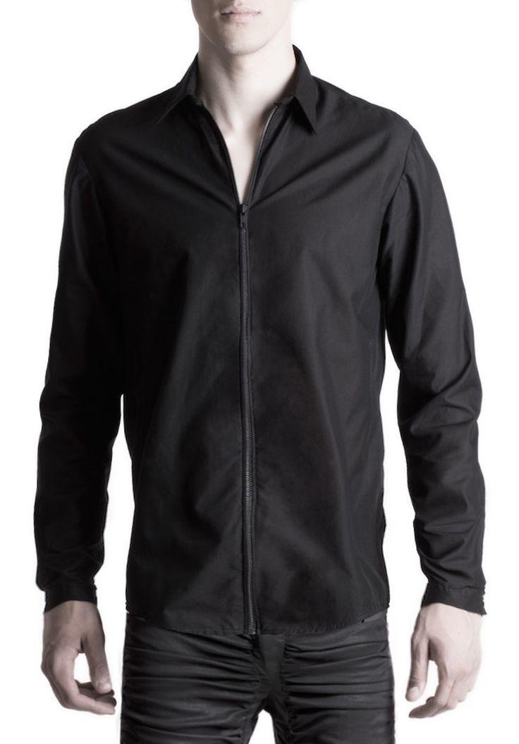 Men's zipper shirt #PANTHEIST #CORVUScolletion #menswear pantheist.co