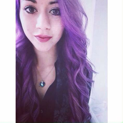 My purple hair using la riche directions violet ☯