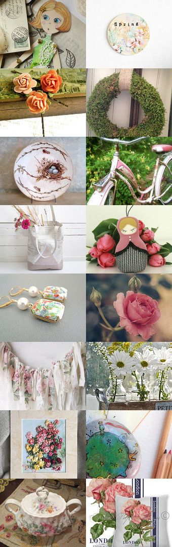 Hello Spring by FrenchPaperMoon on Etsy--Pinned+with+TreasuryPin.com