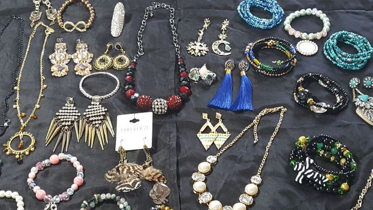 Mixed Jewelry Lot Earrings Bracelets Cookie Lee Necklaces Handmade Women #CookieLee