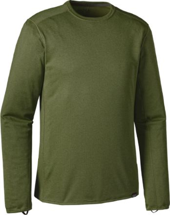 Patagonia Men's Capilene Midweight Long Underwear Crew Top Buffalo/Nouveau Green X-Dye XL