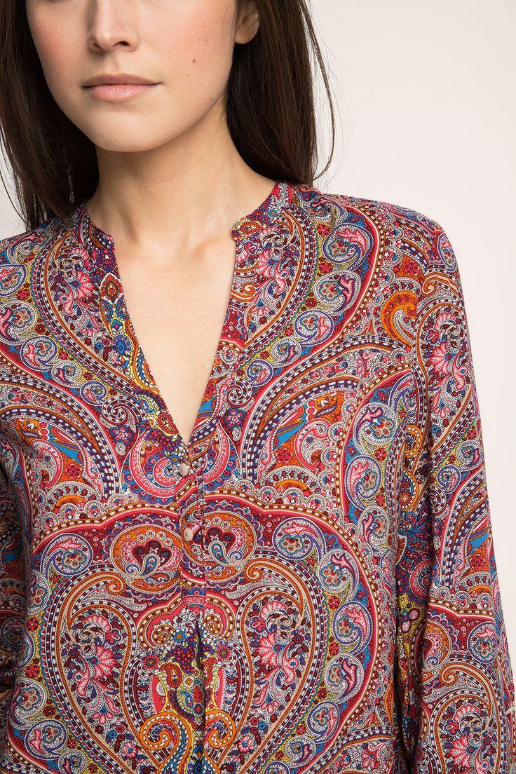 Esprit / Fließende Bluse im Paisley-Look