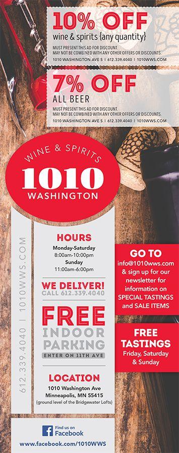 Come visit your new favorite neighborhood liquor store! -1010 Washington Wine & Spirits- #GreatSelection #Deals & OPEN SUNDAYS!
