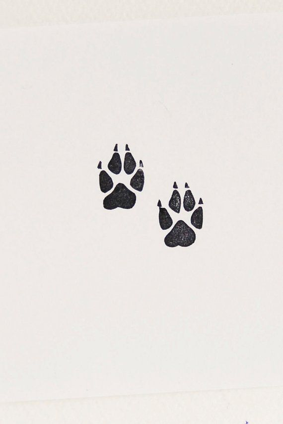 Wolf Paw Print Stamp Handmade Stamps Animal Stamps Wolf Gifts