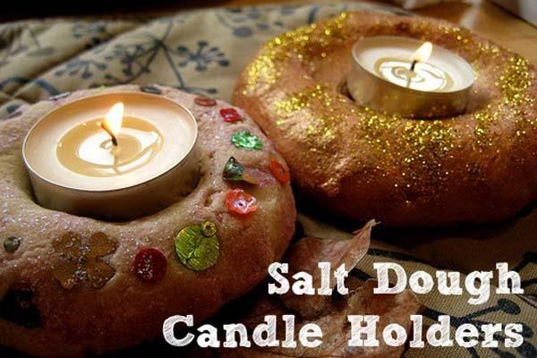 7 Ways to Celebrate Diwali: The Festival of Lights (DIY Salt Dough Candle Holders) #diwali #festivaloflights