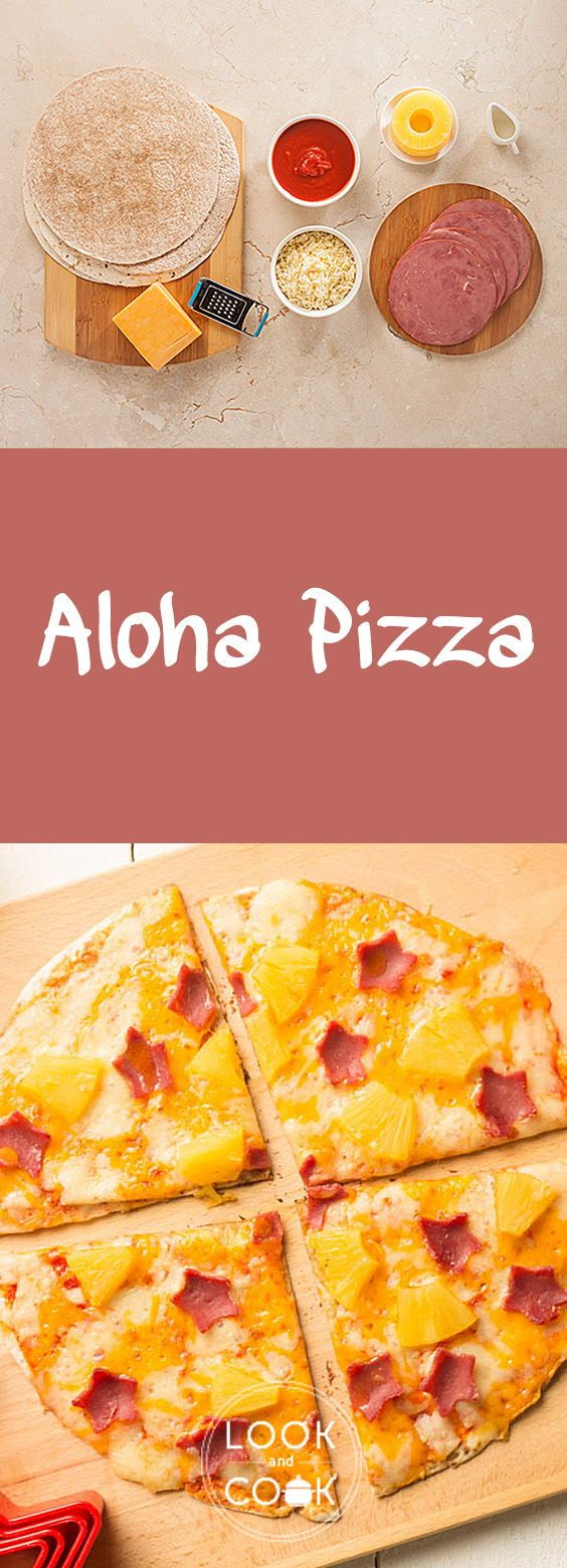 ALOHA PIZZA RECIPE (LC14318) - Aloha Pizza is made specifically for kids.With tortilla, marinara sauce and cheese this pizza is ready in 20 mins and can be packed for lunch.