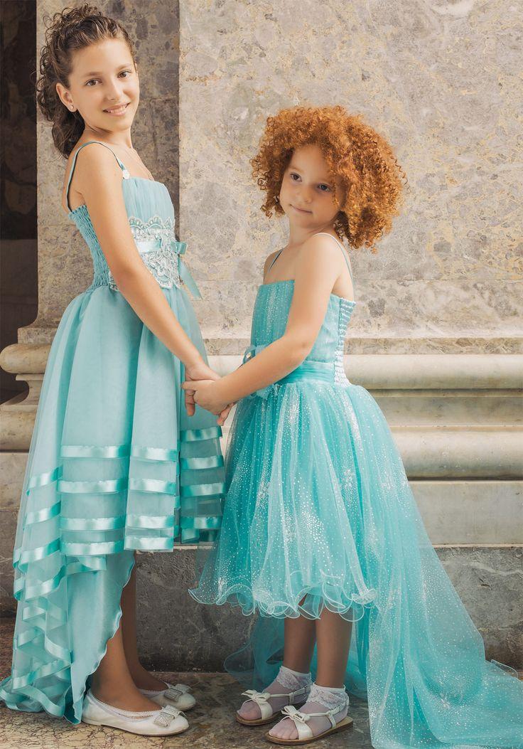 Abiti Da Cerimonia Bambina Verde Tiffany I Vestiti Sono