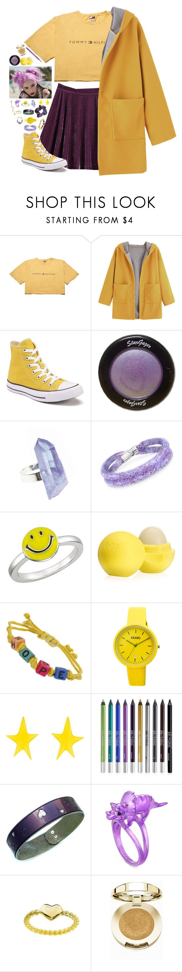 """""""~~the best of us can find happiness in misery~~"""" by we-are-the-wild-ones ❤ liked on Polyvore featuring TAXI, Converse, AstralEYE, Swarovski, Ice, Eos, Miss Selfridge, Crayo, Alexis Bittar and Urban Decay"""