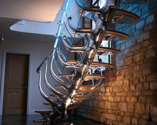 spine staircase- Philip Watts: Interior Design, Stairs, Staircases, Staircase Design, Architecture, House, Watts Design
