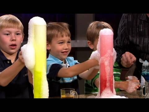 Check out this and other Cool Science Experiments at http://www.stevespanglerscience.com/experiments/ Steve Spangler shares an easy way to safety create erupting smoke-filled bubbles.    About Steve Spangler Science...    Steve Spangler is a celebrity teacher, science toy designer, speaker, author and an Emmy award-winning television personality...