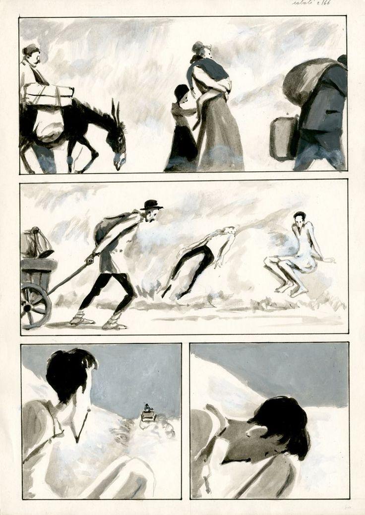 Pascal Rabate / Ibicus / Tome 2 - planche 66 - 34*49 cm. Lavis sur papier