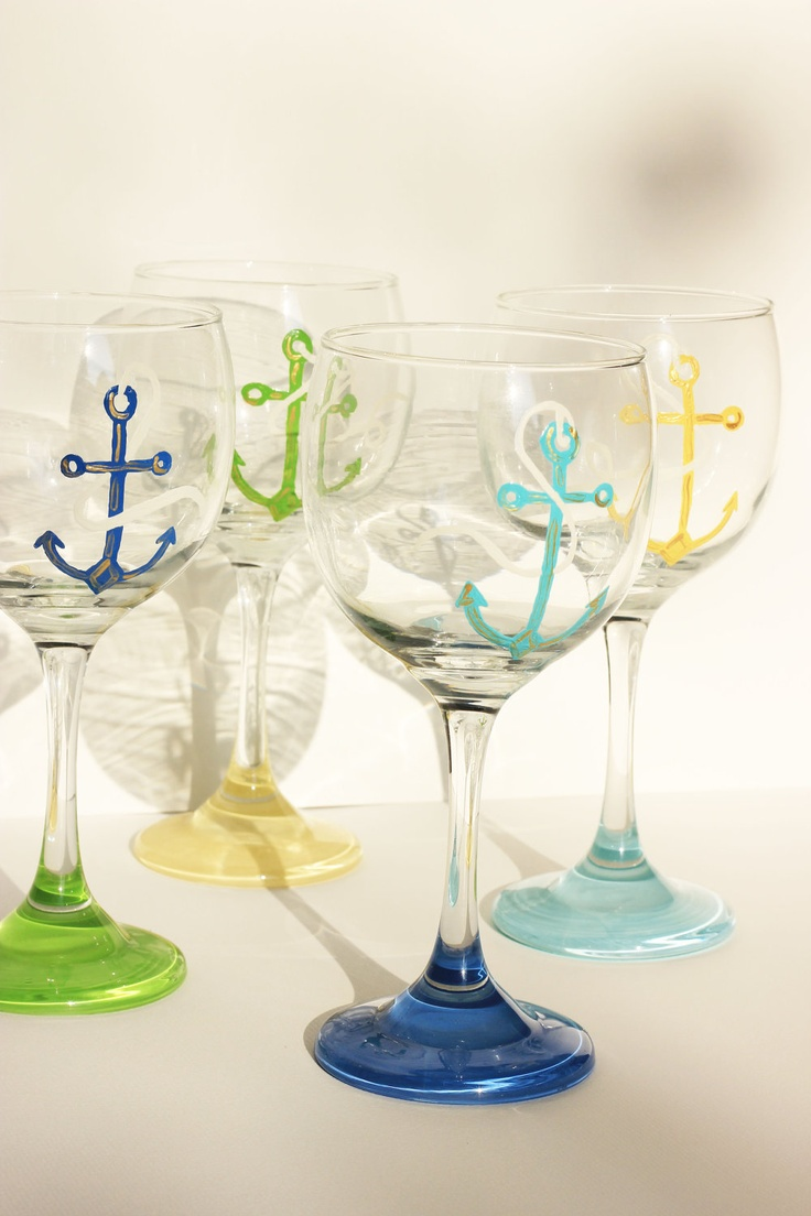Anchor Set of 4 Wine Glasses