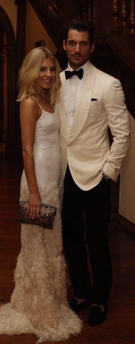 Mollie King with her male model boyfriend David Gandy June 2015