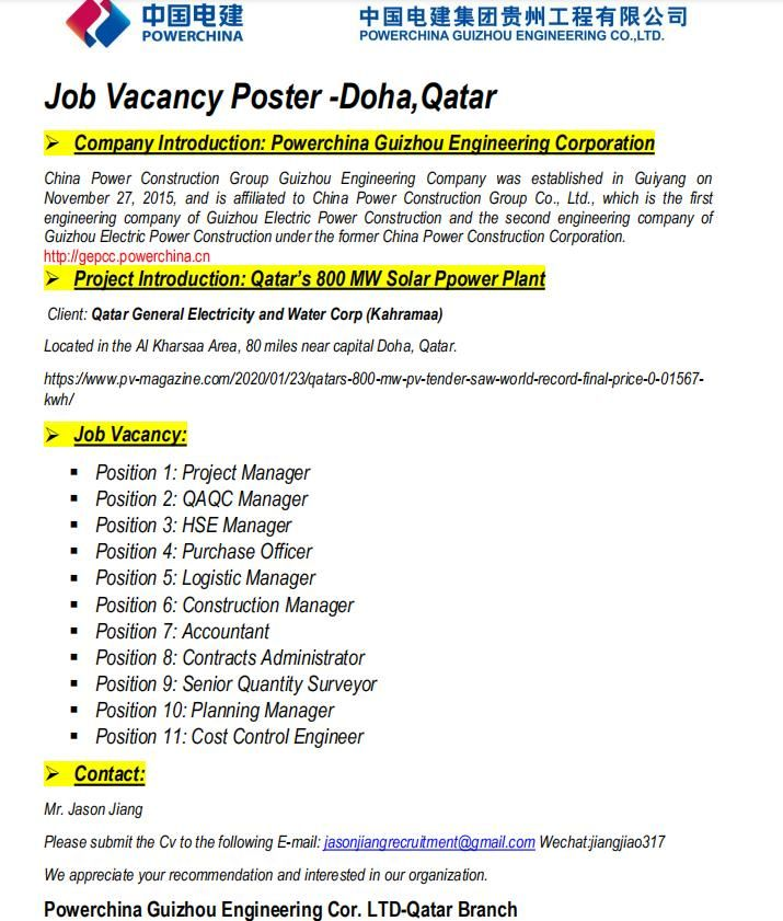 Multiple Openings Qatar in 2020 (With images) Qatar, Job