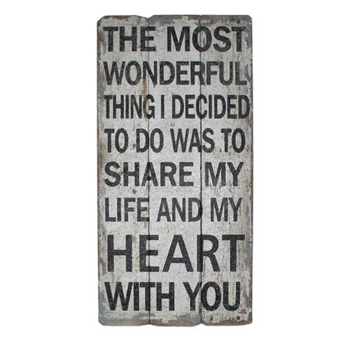 Found it at Wayfair - Wooden Share My Life and Hearts Textual Art