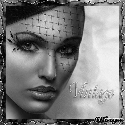 VINTAGE BLACK & WHITE WOMEN