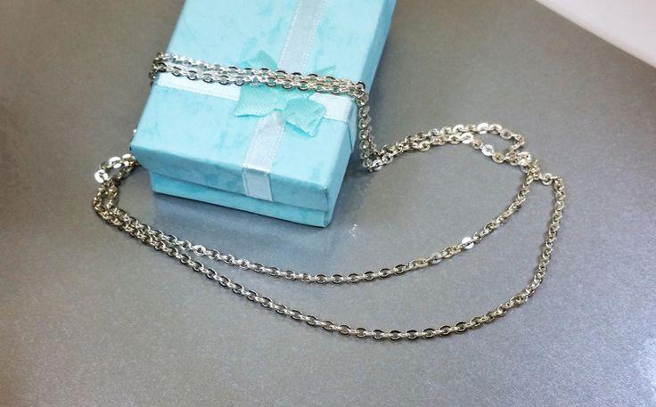Vintage Halsschmuck - Halskette Silber Gliederkette Ankerkette alt HK188 - ein Designerstück von Atelier-Regina bei DaWanda