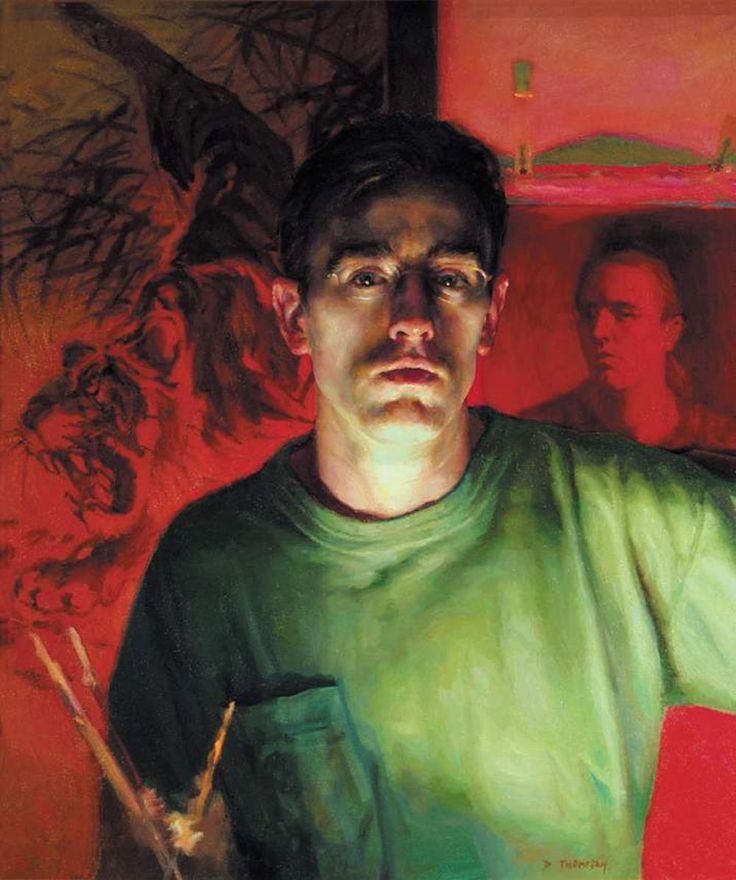 "Dan Thompson (28"" x 32"")  Dreams and Nightmares  Oil on canvas    71.12 x 81.28 cm"
