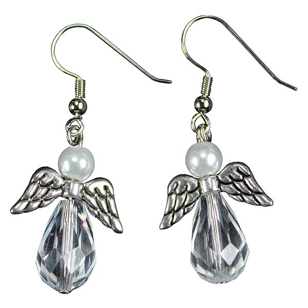 Kauniit enkelikorvikset valmistat helposti helmistä ja korunosista!