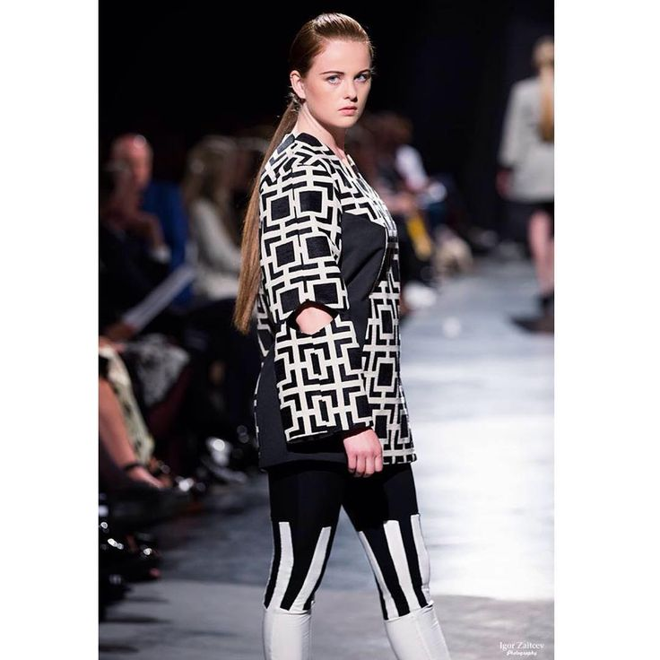 """""""#esmod #fashion #fw15 #catwalk"""" From the collection """"perspective"""" inspired by geometry and optical illusions.  Design: Marte Treider"""
