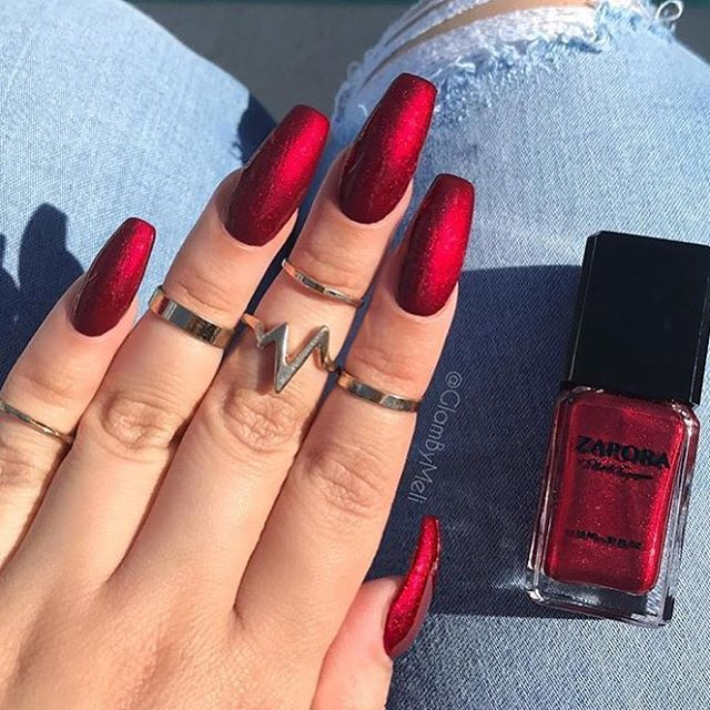 How To Make Nail Polish Not Chip: Best 25+ Deep Red Nails Ideas On Pinterest