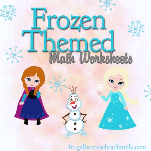 Free Frozen-Themed Math Worksheets