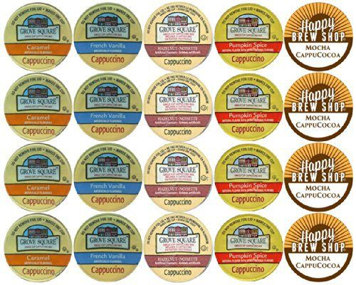 20-count GROVE SQUARE CAPPUCCINO K-Cup Variety Sampler Pack, Single-Serve Cups for Keurig Brewers - http://teacoffeestore.com/20-count-grove-square-cappuccino-k-cup-variety-sampler-pack-single-serve-cups-for-keurig-brewers/
