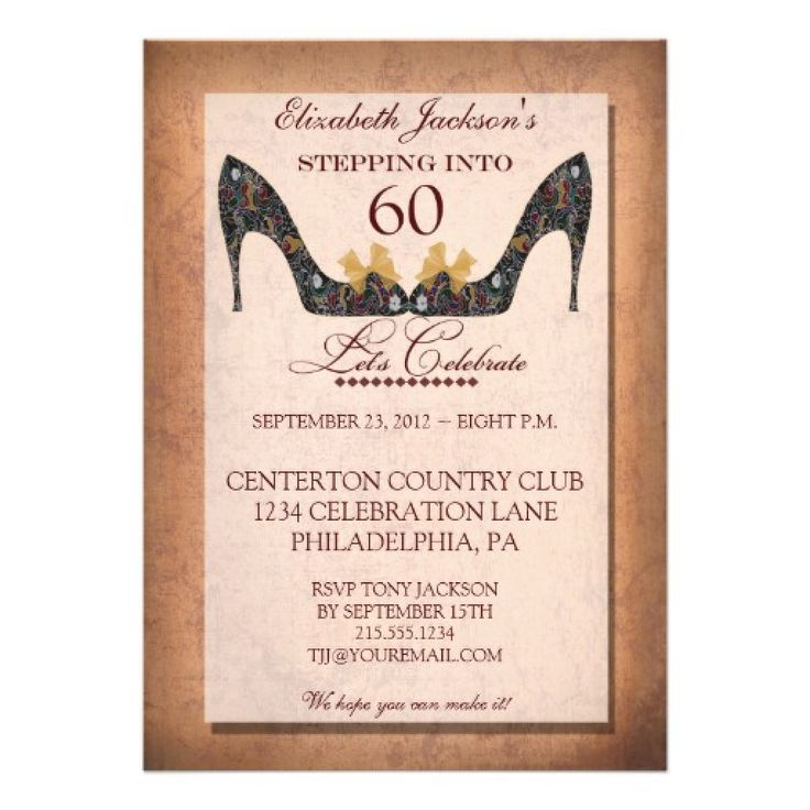 42 best BIRTHDAY INVITATIONS images – 60th Birthday Invitation Templates
