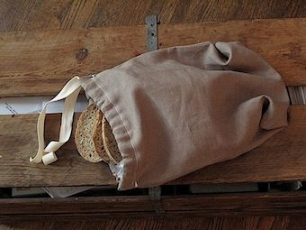 Apparently, a linen bag is the best way to keep bread fresh. Link to DIY here: www.fabrics-store...