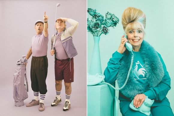 Have you ever wondered what you will wear when you get older? Will you live a life of leisure or wear a more appropriate attire? Photographer Alex de Mora believes that this generation will wear sporty clothing. Here's what it will look like! #portrait #leisure #fashion #clothing #photography