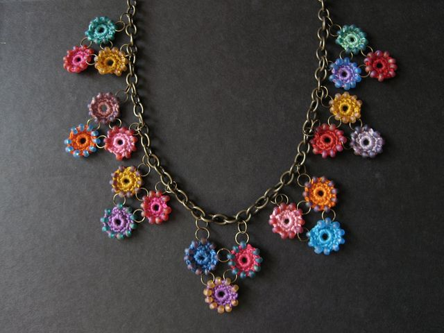 so cute, crochet necklace