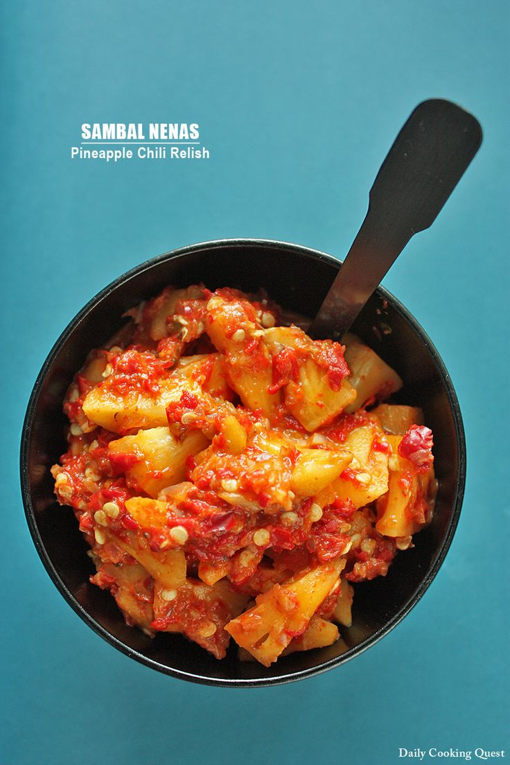 Sambal Nenas – Pineapple Chili Relish