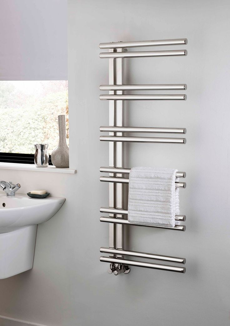 Bathroom radiator with towel rail