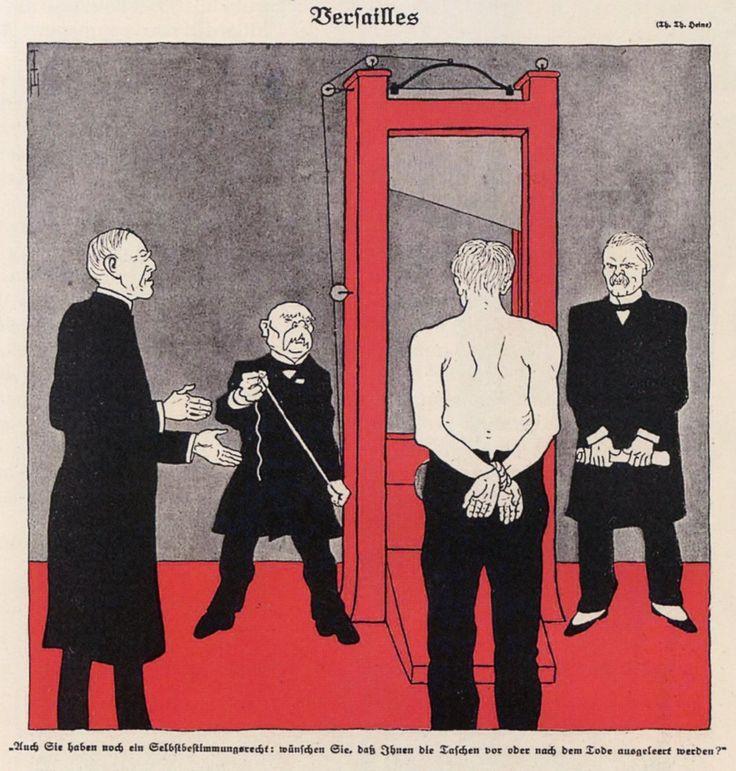 T. Heine, 'Versailles', in 'Simplicissimus' (Duitsland, 3 ...