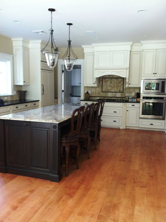 The Homeowners Enhanced A White Kitchen With Curly Maple