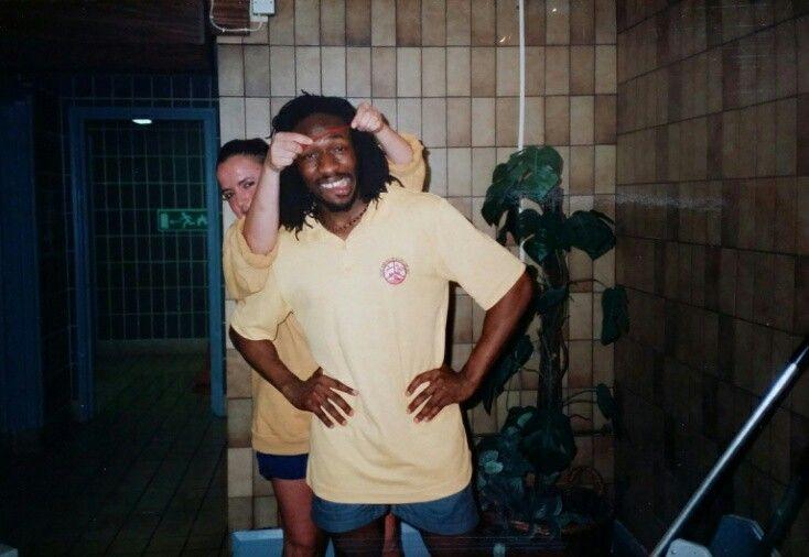 The Fulham Pools with Sam Codjoe and Tessa Reid by Michel Chauny 1990