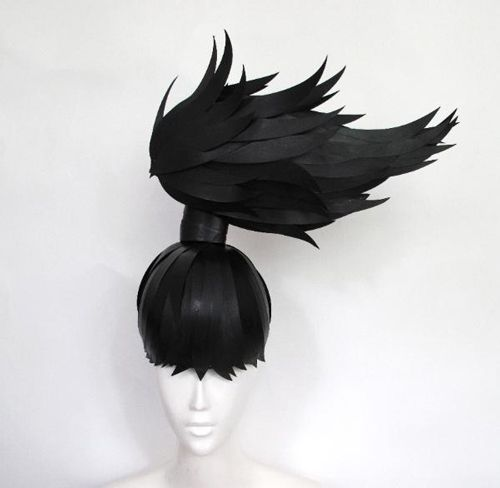 Nikki Salk and Amy Flurry, the duo, also known as as paper-cut-project, has amassed quite an impressive collection of paper wigs and various paper art installations.