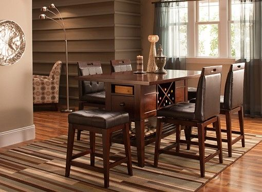danfield 7 pc counter height dining set home